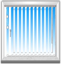 Lamellenvorhang Tür links-Fenster rechts