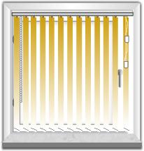 Lamellenvorhang Tür rechts-Fenster links